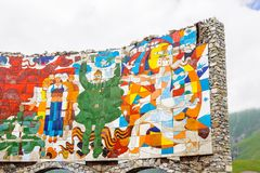 Monument of ilustration of the Shota Rustaveli poem  The Knight Royalty Free Stock Photo