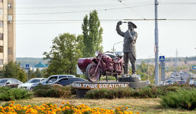 Monument incorruptible road policeman. Belgorod. Russia Stock Images