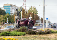 Monument incorruptible road policeman. Belgorod. Russia Stock Image