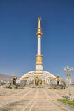 Monument of independence in Ashgabat. Capital city of Turkmenistan stock images