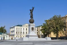 Monument of Independence Flying Ukraine in Kharkiv Stock Photography