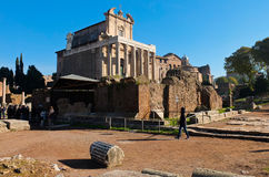 Monument inside the Imperial Forums in Rome Stock Photo