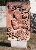 Monument intéressant dans Stepanakert images stock