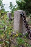 Monument on island Mudjug, Russia Royalty Free Stock Photos