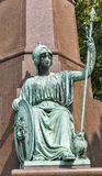 Monument of Istvan Szechenyi in Budapest, Hungary. Stock Images
