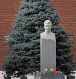 The monument IV Stalin at the Kremlin wall. Moscow Royalty Free Stock Photography