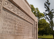 Monument at Jamestown, Virginia, USA Stock Image