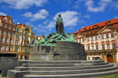 Monument of Jan Hus, The National Gallery, Old Buildings, Old Town Square, Prague, Czech Republic Stock Images