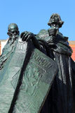 Monument of Jan Hus on the Oldtown Square in Prague Royalty Free Stock Photography