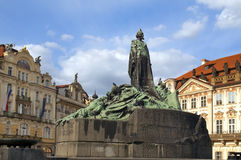 Monument of Jan Hus in Prague. Old town square in Prague monument of Jan Hus. Czech Republic, World Heritage Site by UNESCO Royalty Free Stock Image