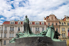 Monument of Jan Hus Stock Photography