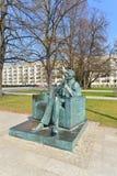 Monument of Jan Karski in Warsaw Stock Image