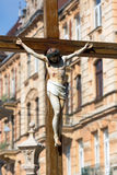 Monument of Jesus crucifixion Stock Photo
