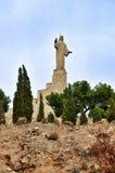 Monument Jesus in Tudela, Spain Stock Images