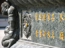 Monument at Jing an Temple. Shanghai, China Royalty Free Stock Image