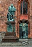 The monument Joachim II. Before the St. Nicholas Church in Berlin-Spandau stock images