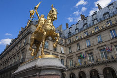 Monument of Joan of Arc. PARIS, FRANCE - JUNE 31: Joan of Arc, a monument in Paris, France, June 31, 2013, Paris, France. The national heroine of France, one of Royalty Free Stock Images