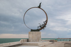 Monument of Jonathan Seagull at San Benedetto del Tronto Stock Images