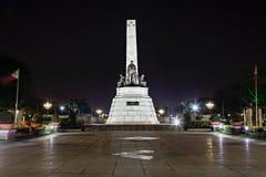 Monument of Jose Rizal. Filipino nationalist, writer and revolutionary royalty free stock photography