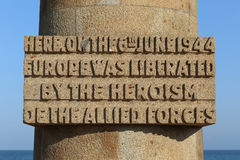 Monument Juno Beach. The Juno Beach Monument in Normandy, France royalty free stock photos