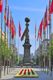 The monument of Justiciazgo, Zaragoza, Spain Royalty Free Stock Photography