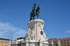 Monument Königs Jose I in Praca tun Comercio Stockbild