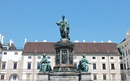 Monument Kaiser Franz in Wien Stockfotos