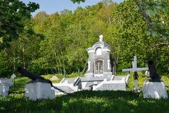 Monument-Kapelle, errichtet zu Ehren der erfolgreichen Verteidigung von Petropawlowsk vom Angriff des anglofranzösischen Geschwad Lizenzfreie Stockbilder