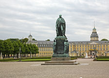 Monument of Karl Friedrich in Karlsruhe Palace. Germany Stock Photos