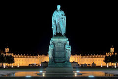 Monument of Karl Friedrich von Baden in Karlsruhe Stock Photos