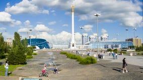 The monument Kazakh Eli in Astana city. Royalty Free Stock Image