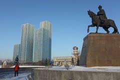 Monument Khan Kenesary d'Astana images libres de droits
