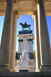 The monument of the King Alfons XII in Retiro Park Royalty Free Stock Photos