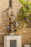 Monument of King David with the harp in Jerusalem Royalty Free Stock Images