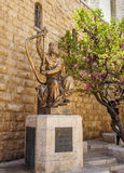 Monument of King David with the harp in Jerusalem Royalty Free Stock Photos