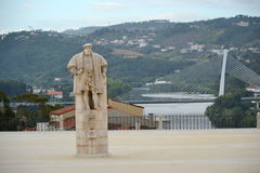 The monument of the king Joao III Stock Photos