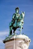 Monument of King Jose I on Commerce Square Stock Photography