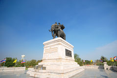 Monument of King Naresuan. Royalty Free Stock Photos