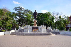 Monument King Rama in thai public park at Nonthaburi Thailand. This public park is located beyond Wat Chaloem Phra Kiat. It covers an area of 40 acres. The park Royalty Free Stock Photo