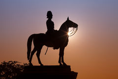 The monument of King Rama V. King Rama V Equestrian Monument Royalty Free Stock Photo