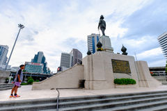 The monument of king RAMA VI in front of Lumpini park Stock Images