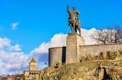 Monument of King Vakhtang I Gorgasali in Tbilisi Stock Image