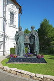 Monument of the kings in Moscow Novospassky Monastery Stock Photo