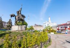 Monument on Kontraktova Square in Kiev city Royalty Free Stock Photo