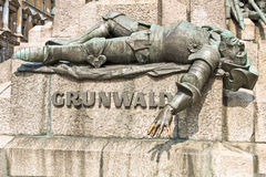 Monument in Krakow dedicated to battle of Grunwald Stock Images