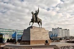 Monument Kurmangazy till Aktau Arkivfoton