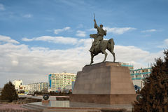 Monument Kurmangazy to Aktau. Stock Photos