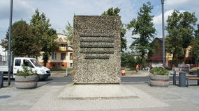 Monument in Kutno Poland. The Monument in Kutno Poland stock images