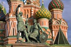 Monument of Kuzma Minin and Dmitry Pozharsky Stock Image
