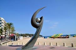 Monument of L'Esguard in Lloret de Mar, Spain Stock Images
